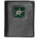 Siskiyou Buckle Dallas Stars Deluxe Leather Tri-fold Wallet Packaged in Gift Box, HTR125