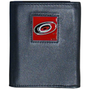 Siskiyou Buckle HTR135BX Carolina Hurricanes Deluxe Leather Tri-fold Wallet