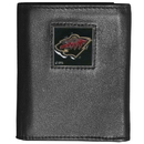 Siskiyou Buckle HTR145 Minnesota Wild Deluxe Leather Tri-fold Wallet Packaged in Gift Box