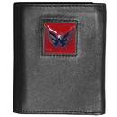 Siskiyou Buckle HTR150 Washington Capitals Deluxe Leather Tri-fold Wallet Packaged in Gift Box