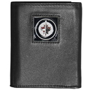 Siskiyou Buckle HTR155BX Winnipeg Jets; Leather Tri-fold Wallet