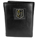 Siskiyou Buckle HTR165 Las Vegas Golden Knights Deluxe Leather Tri-fold Wallet Packaged in Gift Box