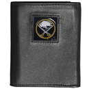 Siskiyou Buckle HTR25 Buffalo Sabres? Deluxe Leather Tri-fold Wallet Packaged in Gift Box