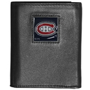 Siskiyou Buckle HTR30 Montreal Canadiens Deluxe Leather Tri-fold Wallet Packaged in Gift Box