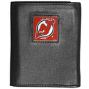 Siskiyou Buckle HTR50BX New Jersey Devils? Deluxe Leather Tri-fold Wallet