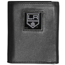 Siskiyou Buckle HTR75 Los Angeles Kings Deluxe Leather Tri-fold Wallet Packaged in Gift Box