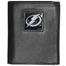 Siskiyou Buckle HTR80 Tampa Bay Lightning Deluxe Leather Tri-fold Wallet Packaged in Gift Box