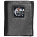 Siskiyou Buckle HTR90 Edmonton Oilers Deluxe Leather Tri-fold Wallet Packaged in Gift Box