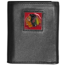Siskiyou Buckle HTRN10 Chicago Blackhawks? Leather Tri-fold Wallet