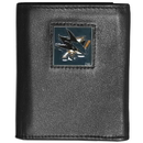 Siskiyou Buckle HTRN115 San Jose Sharks Leather Tri-fold Wallet