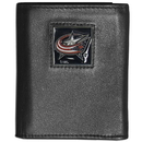 Siskiyou Buckle HTRN130 Columbus Blue Jackets? Leather Tri-fold Wallet