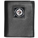 Siskiyou Buckle HTRN155 Winnipeg Jets; Leather Tri-fold Wallet