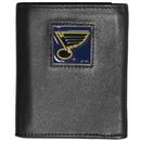 Siskiyou Buckle HTRN15 St. Louis Blues? Leather Tri-fold Wallet