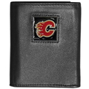 Siskiyou Buckle HTRN60 Calgary Flames? Leather Tri-fold Wallet