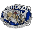 Siskiyou Buckle I27E Rodeo Horse Rider Enameled Belt Buckle