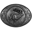 Siskiyou Buckle I5 Western Elk Antiqued Belt Buckle