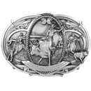 Siskiyou Buckle Championship Rodeo Antiqued Belt Buckle, J180
