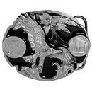 Siskiyou Buckle J2D Eagle (Diamond Cut) Enameled Belt Buckle