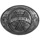 Siskiyou Buckle J5 Proud to be an American Antiqued Belt Buckle