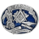 Siskiyou Buckle J6E Mason 3D Enameled Belt Buckle