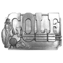 Siskiyou Buckle Golf Antiqued Belt Buckle, K30