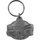 Siskiyou Buckle American Firefighter Antiqued Key Chain, KR104