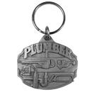 Siskiyou Buckle Plumber Antqued Key Chain, KR120