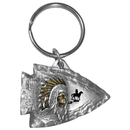 Siskiyou Buckle KR123E Key Ring - Indian Chief on Arrowhead