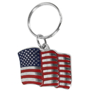 Siskiyou Buckle KR134E Key Ring - American Flag