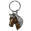 Siskiyou Buckle KR141E Key Ring - Horse Head