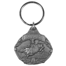 Siskiyou Buckle Rodeo Bull Riding Antiqued Key Chain, KR148