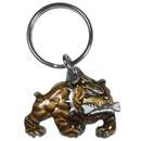 Siskiyou Buckle KR155E Key Ring-Bulldog With A Bone