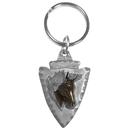 Siskiyou Buckle KR160E Key Ring - Horse On Arrowhead