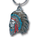 Siskiyou Buckle KR161E Key Ring - Indian Chief
