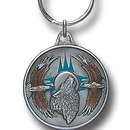 Siskiyou Buckle KR164E Key Ring - Wolf & Eagles