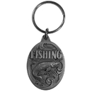 Siskiyou Buckle Fishing Antiqued Key Chain with Trout, KR190