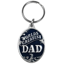 Siskiyou Buckle KR195E Key Ring - World's Greatest Dad