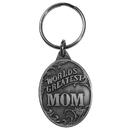 Siskiyou Buckle World's Greatest Mom Antiqued Metal Key Chain, KR196