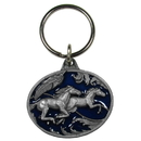 Siskiyou Buckle KR200E Key Ring - Running Horses