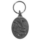 Siskiyou Buckle Live To Ride Motorcycle Antiqued Metal Key Chain, KR207