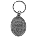 Siskiyou Buckle Navy Antiqued Keyring, KR214