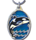 Siskiyou Buckle KR227E Key Ring - Orca Whale