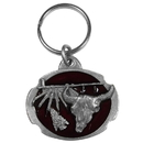 Siskiyou Buckle KR31E Key Ring - Buffalo Skull