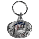 Siskiyou Buckle KR48E Key Ring - American Trucker