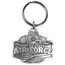 Siskiyou Buckle Air Force Antiqued Keyring, KR6
