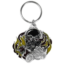 Siskiyou Buckle KRW92E Key Ring - Flaming Skull