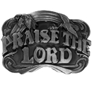 Siskiyou Buckle L40 Praise the Lord Antiqued Belt Buckle