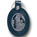 Siskiyou Buckle LKF11E Leather Keychain - Wolf