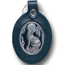 Siskiyou Buckle LKF4E Leather Keychain - Wolf