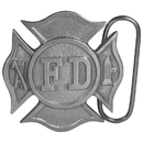Siskiyou Buckle Fireman's Cross Antiqued Belt Buckle, M96